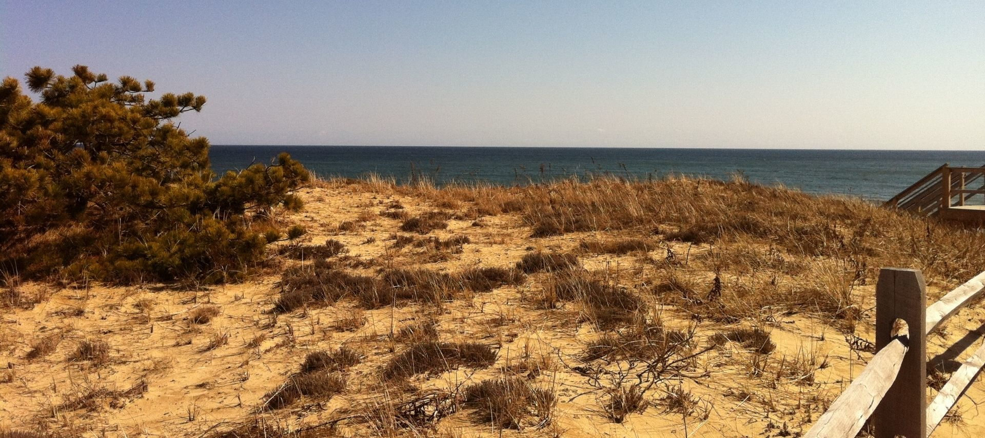 View of the beach on Cape Cod in the fall