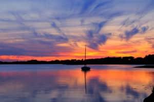 Romantic sunset on Cape Cod