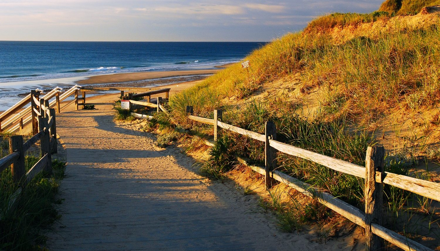 Beach path on Cape Cod for romantic walks
