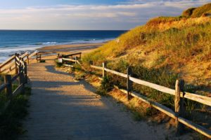 Beach path on Cape Cod for romantic walks