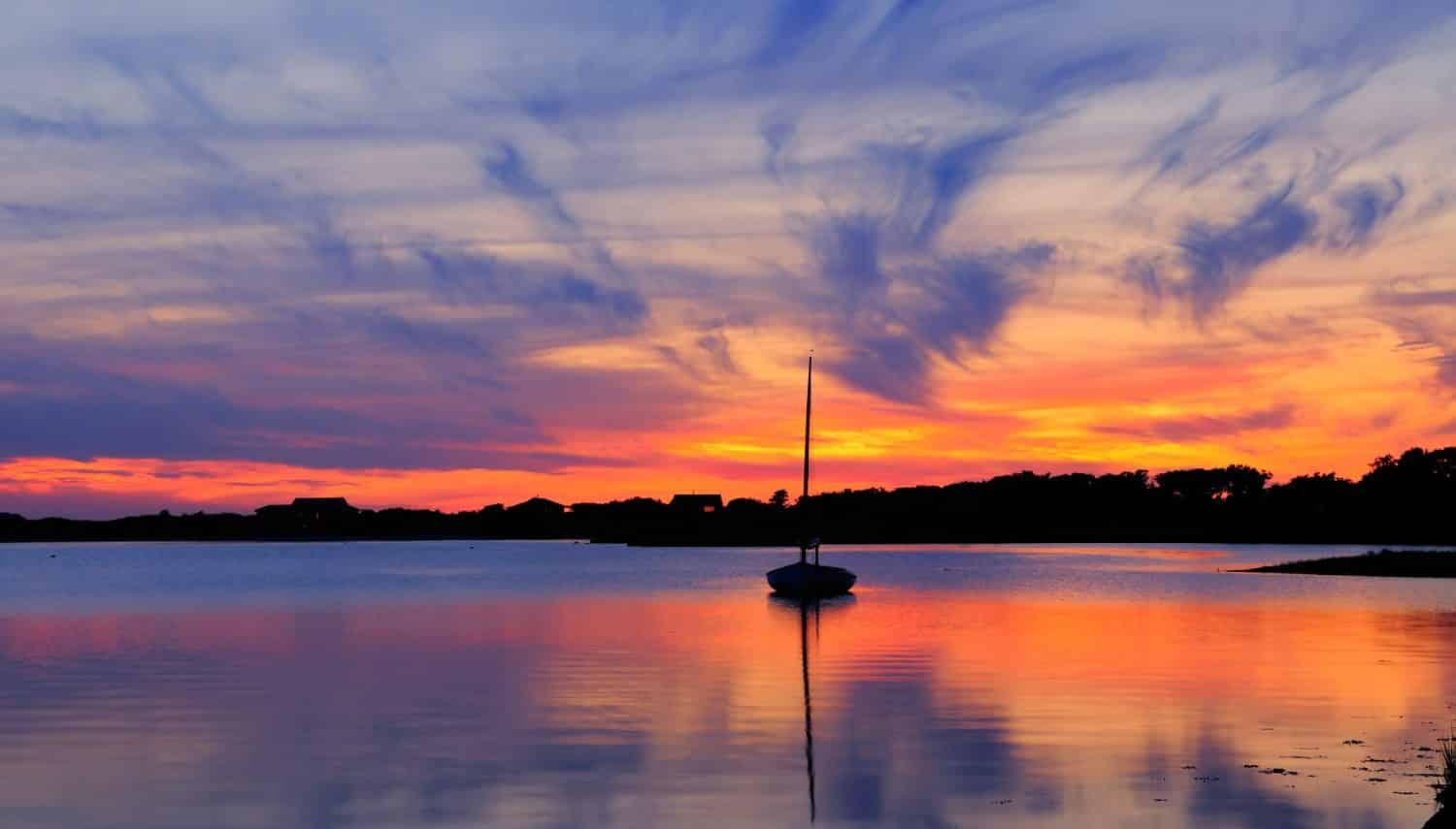Sunset at Martha's Vineyard, showing one of the best destinations for Cape Cod day trips