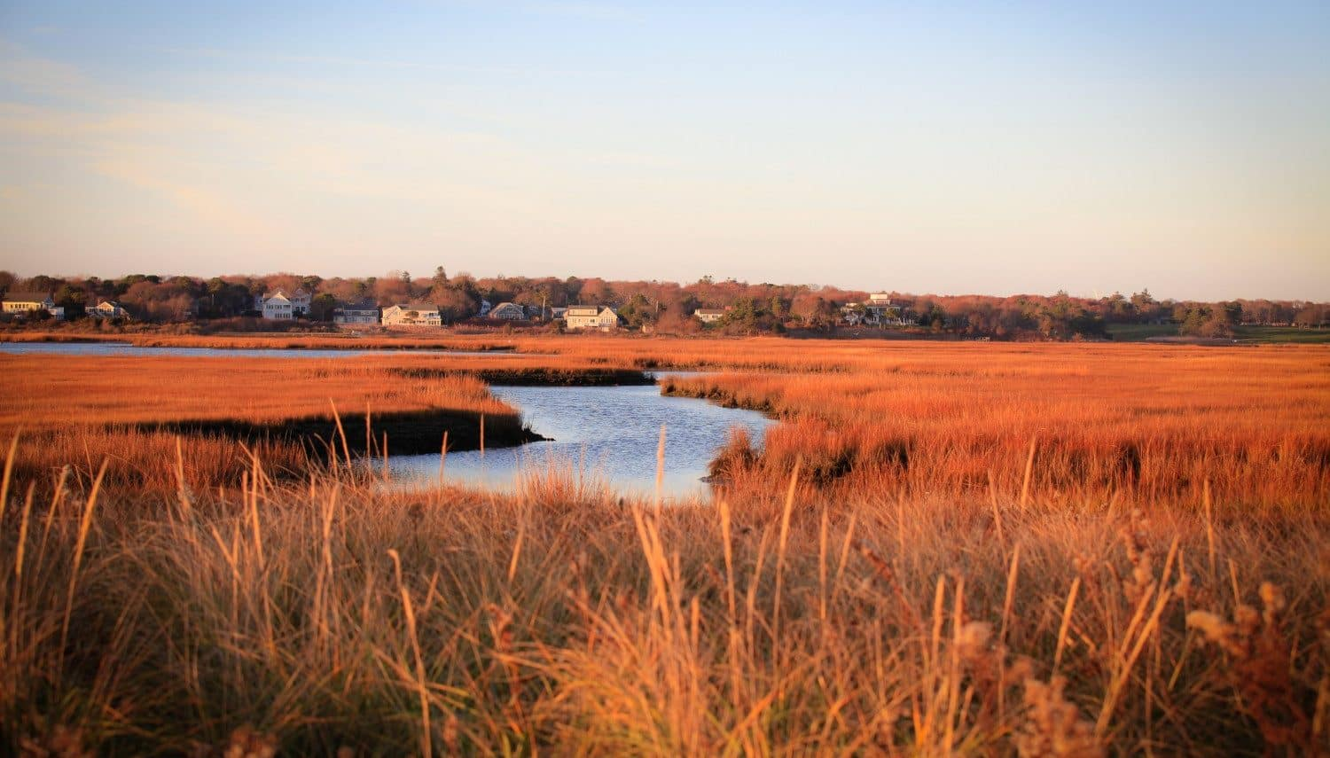 a view of Hyannis in Cape Cod in the fall