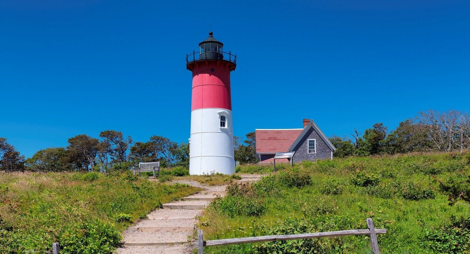 Nauset Light, one of the most famous Cape Cod lighthouses