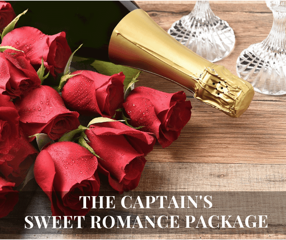 Roses and Champagne for a Cape Cod romantic getaway