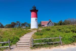 Nauset Lighthouse on the Cape Cod National Seashore